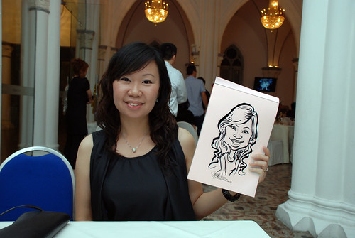 caricature live sketching for Intel Mobile Communications Year-End celebrations - 12