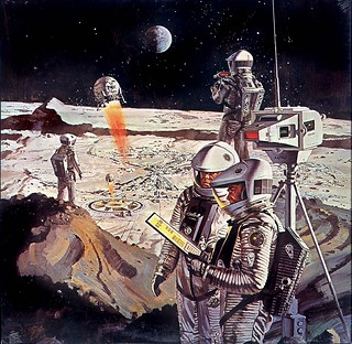 """...we go to the moon!"" space art of Robert McCall"