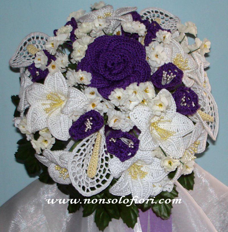 Bouquet Sposa Viola.Bouquet Sposa Crochet Uncinetto Viola Bouquet Sposa Realiz Flickr