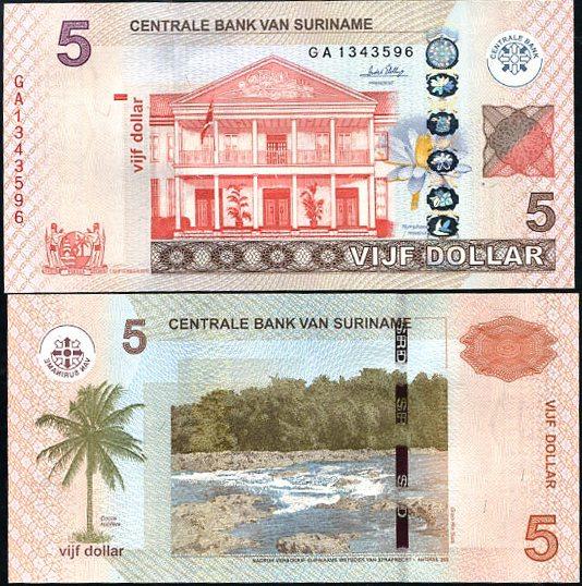 5 Dolárov Surinam 2010