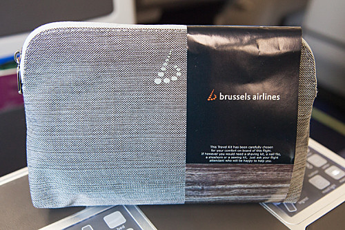 brussels airlines new business class amenity kit