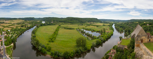 Panorama of the Dordogne from Chateau Beynac-et-Cazenac