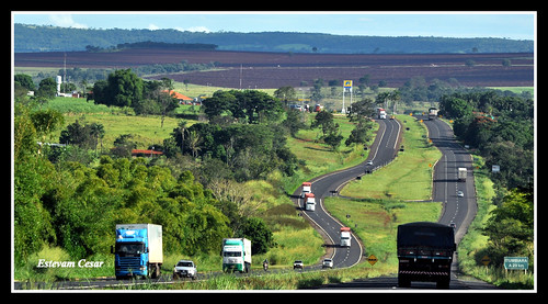BR 153 - BRAZIL - (Highway between the capital Goiânia and Itumbiara, border with the state of Minas Gerais)