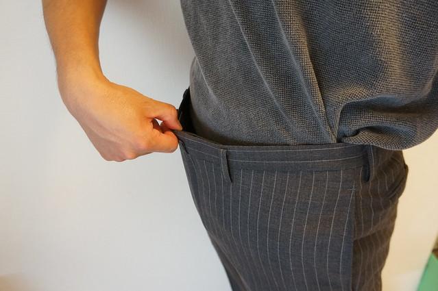 スーツのズボンのお直し