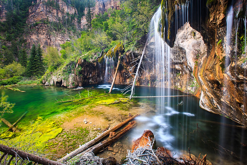 longexposure blue cliff lake mountains green fall water creek river landscape outdoors evening waterfall pond woods colorado rocks stream path stones timber tracks canyon hike clear climbing trail limestone rockymountains brook 28 wilderness lowkey cascade waterscape hanginglake glenwoodcanyon deadhorsecreek nationallandmark