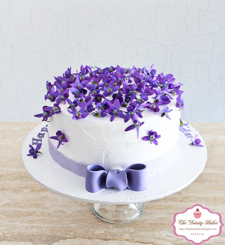 Violet Flower Birthday Cake Image Inspiration of Cake and