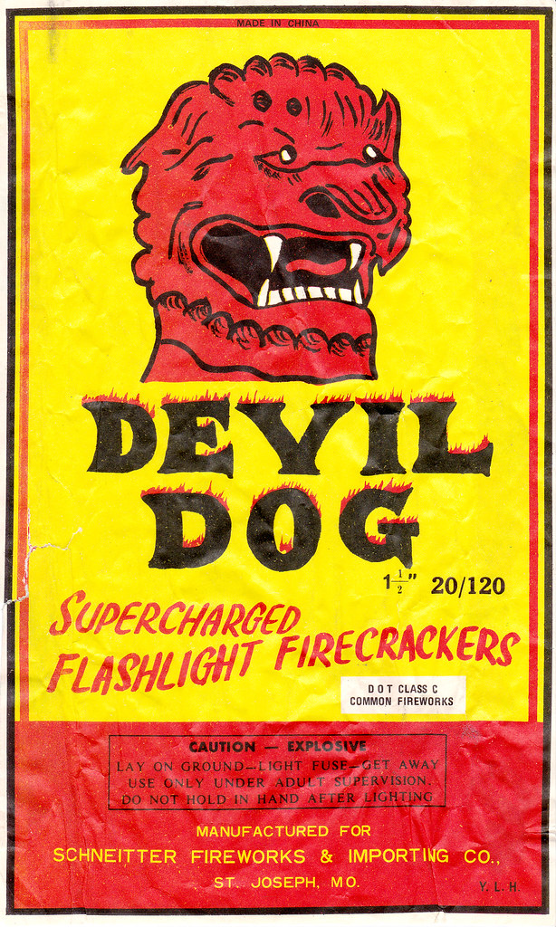 Devil Dog - Firecracker Brick Label