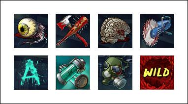 free Zombies slot game symbols
