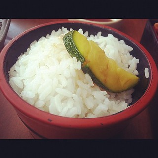 Zucchini on rice