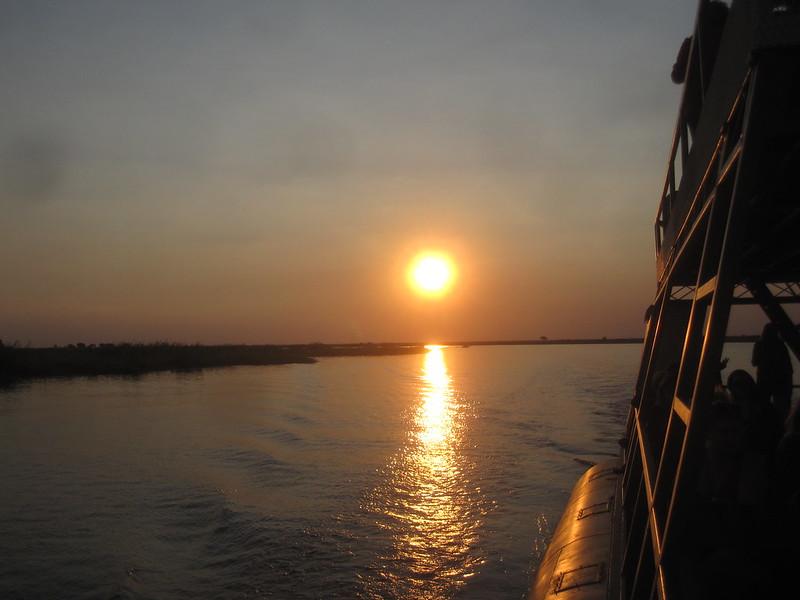 Chobe Botswana River Sunset Africa