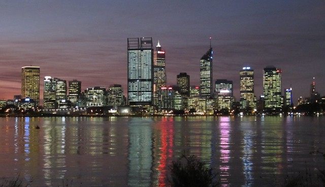 Perth skyline, from south of the river