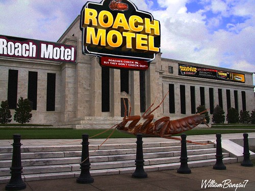 FEDERAL RESERVE ROACH MOTEL by Colonel Flick