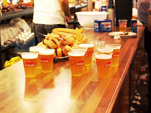 Cervezas at the July Fiestas, Puerto de la Cruz