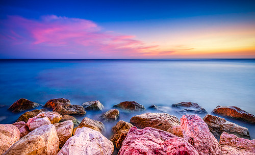 seascape rocks curacao