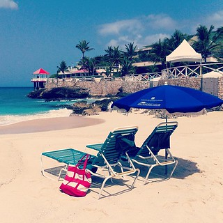 Last full day in #stmaarten. Beach set-up.