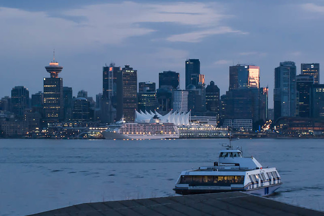 Seabus coming into North Vancouver