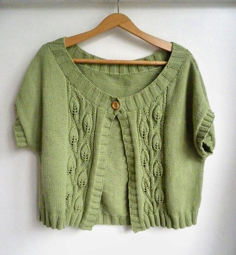 Leaf Cable Cardigan