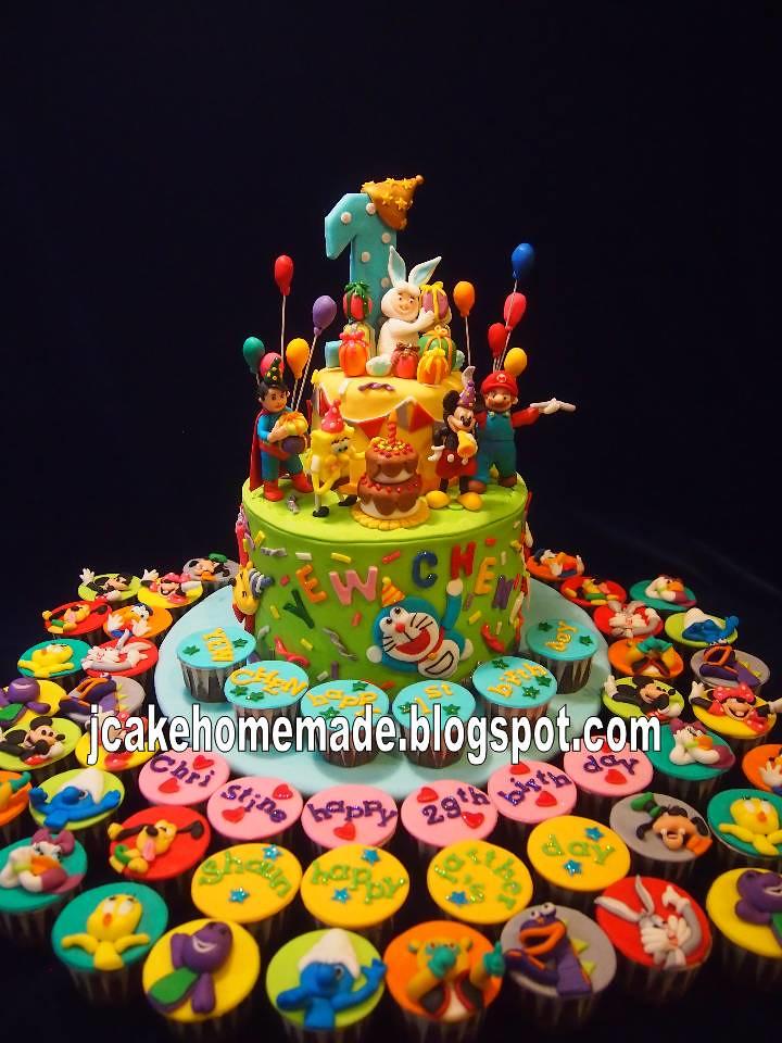 3D cartoon birthday cake a photo on Flickriver