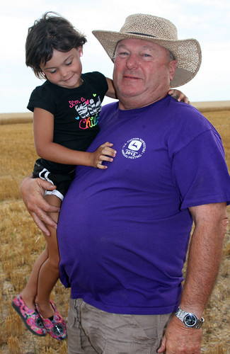 Spending time with our farmer PAPA!