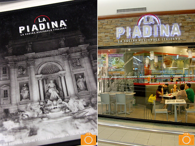 La Piadina menu and interiors