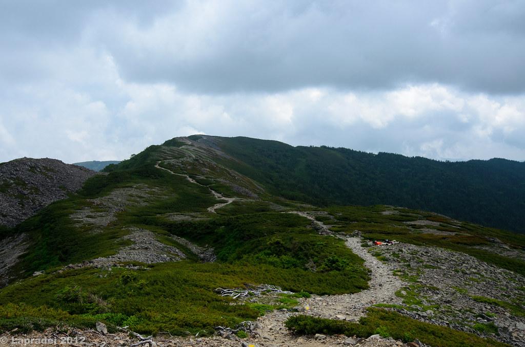 20120729 蝶ヶ岳へと続く稜線