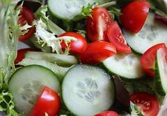 hors d'oeuvre(0.0), caprese salad(0.0), plant(0.0), greek salad(0.0), produce(0.0), salad(1.0), vegetable(1.0), cruditã©s(1.0), garnish(1.0), food(1.0), dish(1.0),