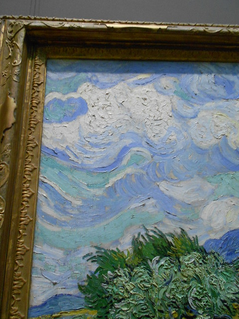Wheat Field with Cypresses - Van Gogh (close-up)