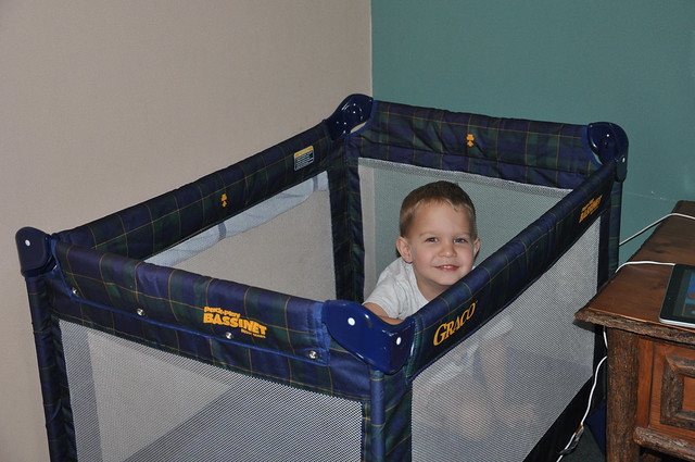 This is how Chuck escaped Lew….played in the crib!