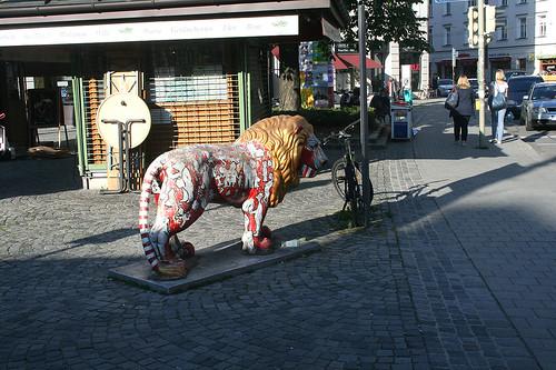 Löwe am Wiener Platz