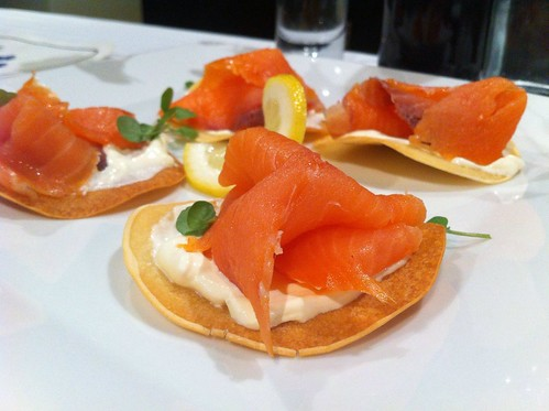 Smoked Salmon on Crispy Wonton Skins by mjd-s