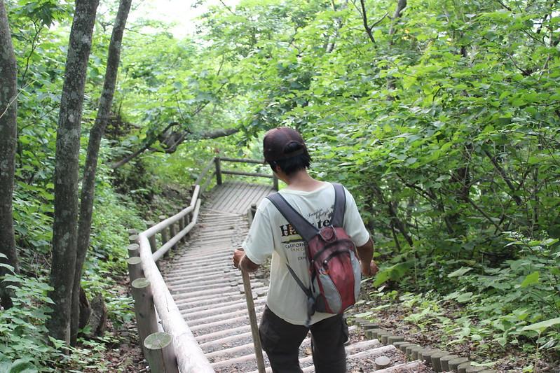 仏ヶ浦の海岸へ降りる道