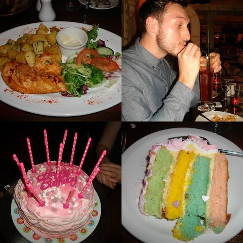 birthday cake, pastel cake, coctails,