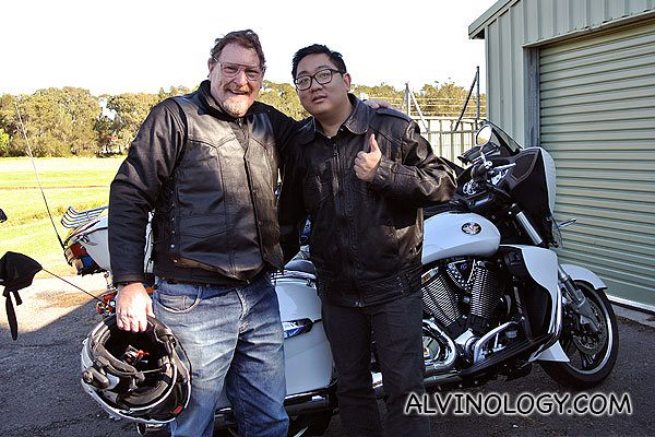 Me with my Victory bike rider