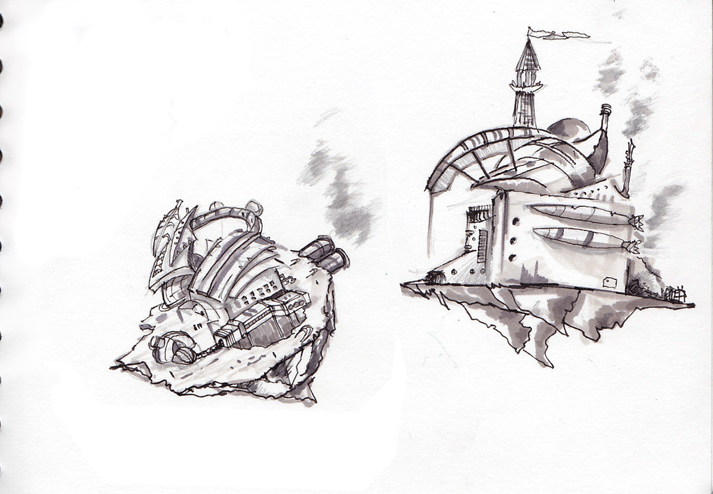 sketches air ships