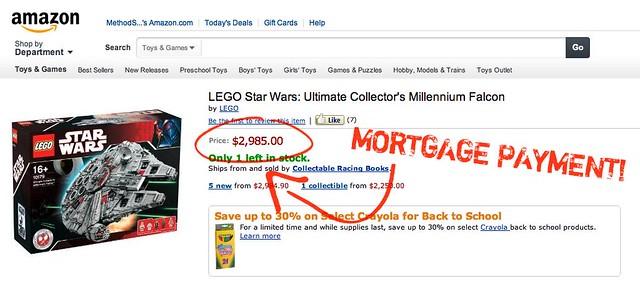 Ultimate Collectors Lego Millennium Falcon - $2,985