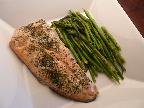 Baked Salmon with Roasted Asparagus
