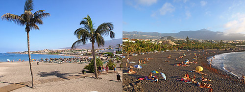 Beaches in South and North Tenerife