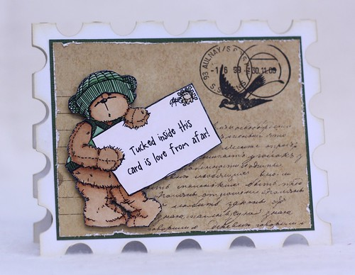 Teddy Bo Stamp Card