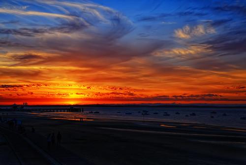 無料写真素材, 自然風景, 朝焼け・夕焼け, 海, ビーチ・海岸, 風景  フランス