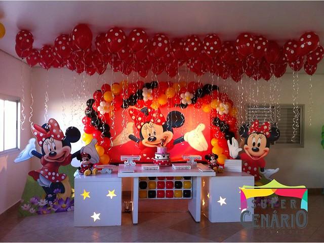 Decoração Clean Minnie Vermelha  Flickr  Photo Sharing!