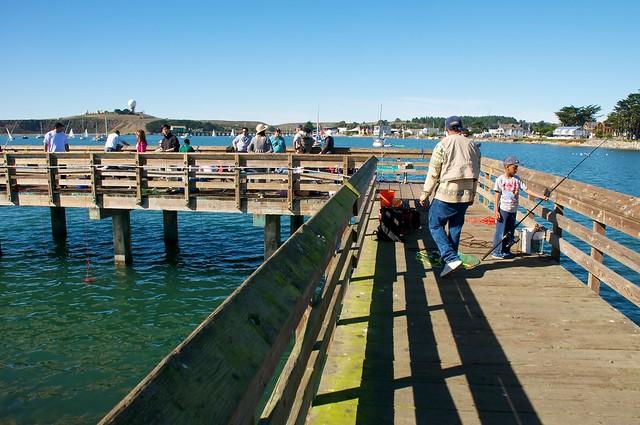 Kids fishing at pillar point explore donjd2 39 s photos on for Half moon bay pier fishing