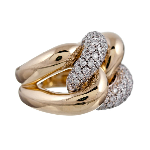 Obsession Chunky Yellow Gold & Diamond Rings Gem Gossip