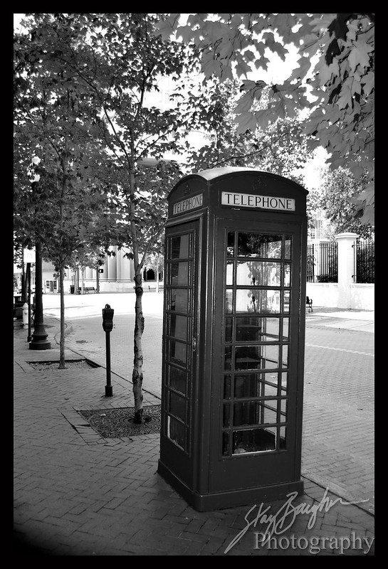 British Phone Booth in Mississippi