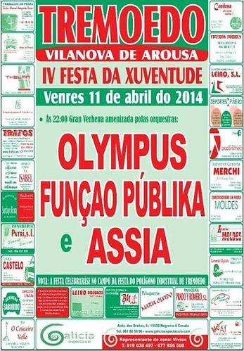 Vilanova de Arousa 2014 - IV Festa da Xuventude de Tremoedo - cartel
