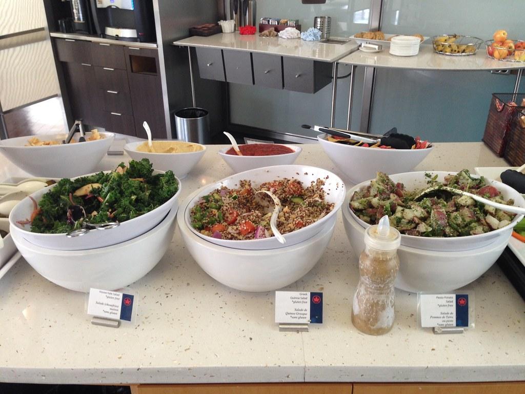 Salad bar counter