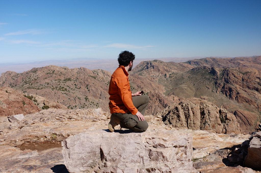 naff pose on Jebel L'Kest