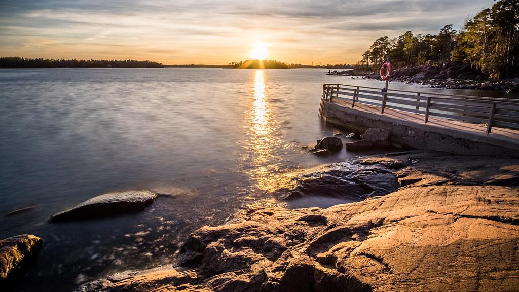 A sunset in Lauttasaari, Helsinki, Finland picture