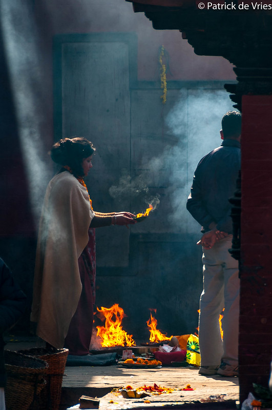 Offerings at the Kumbheśvara Temple - Patan, Kathmandu
