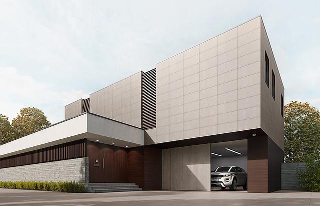 subway clay exterior casa 3D V1