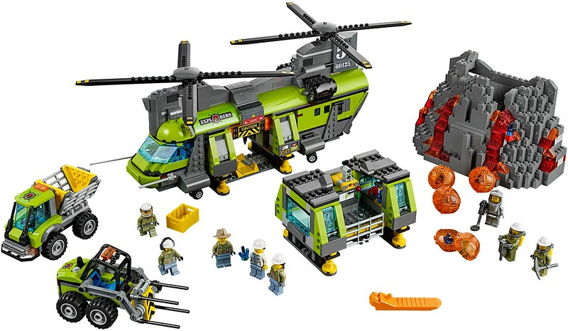 LEGO City Sets 2016: 60125 - Volcano Heavy-Lift Helicopter